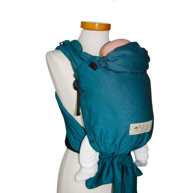 Babycarrier Storchenwiege hybride – Turquoise   Ô BONHEUR DE BEBE e4925fecf89