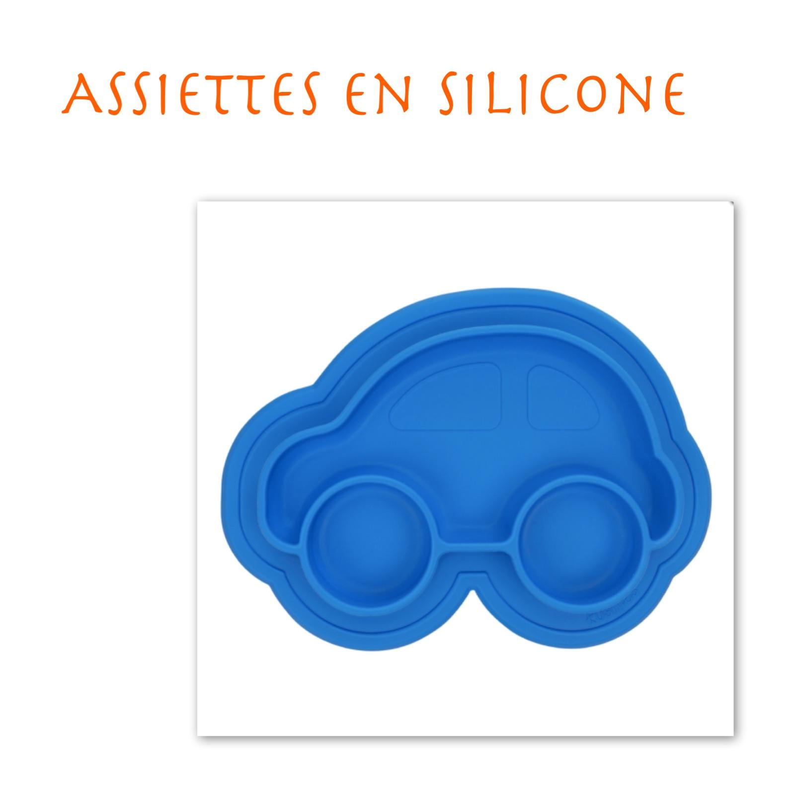 Assiettes en silicone