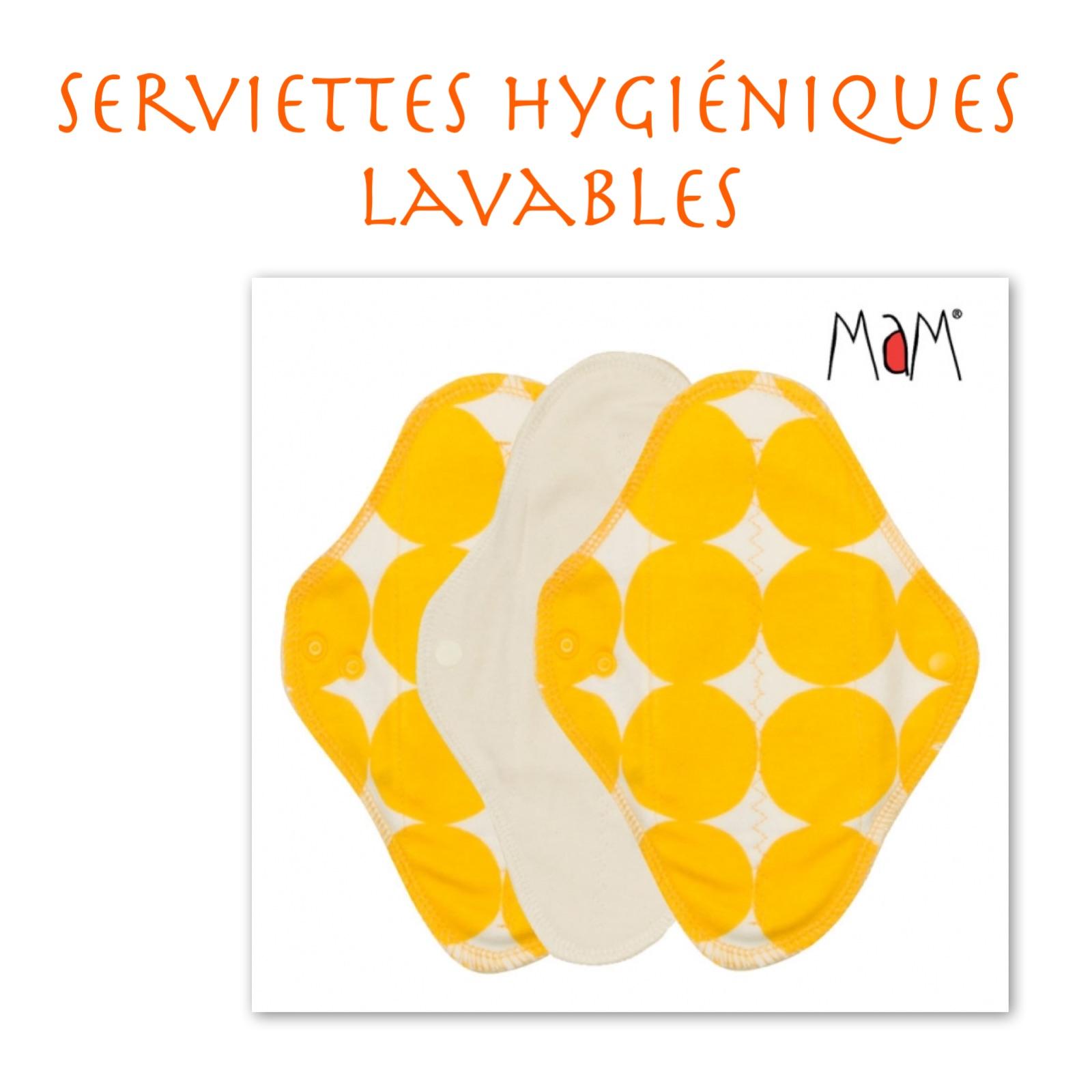 Serviettes hygiéniques lavables